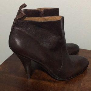 Nine West dark brown/Burgundy leather bootie